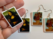 Load image into Gallery viewer, Famous Painting Earrings: Mona Lisa, Van Gogh Sunflowers