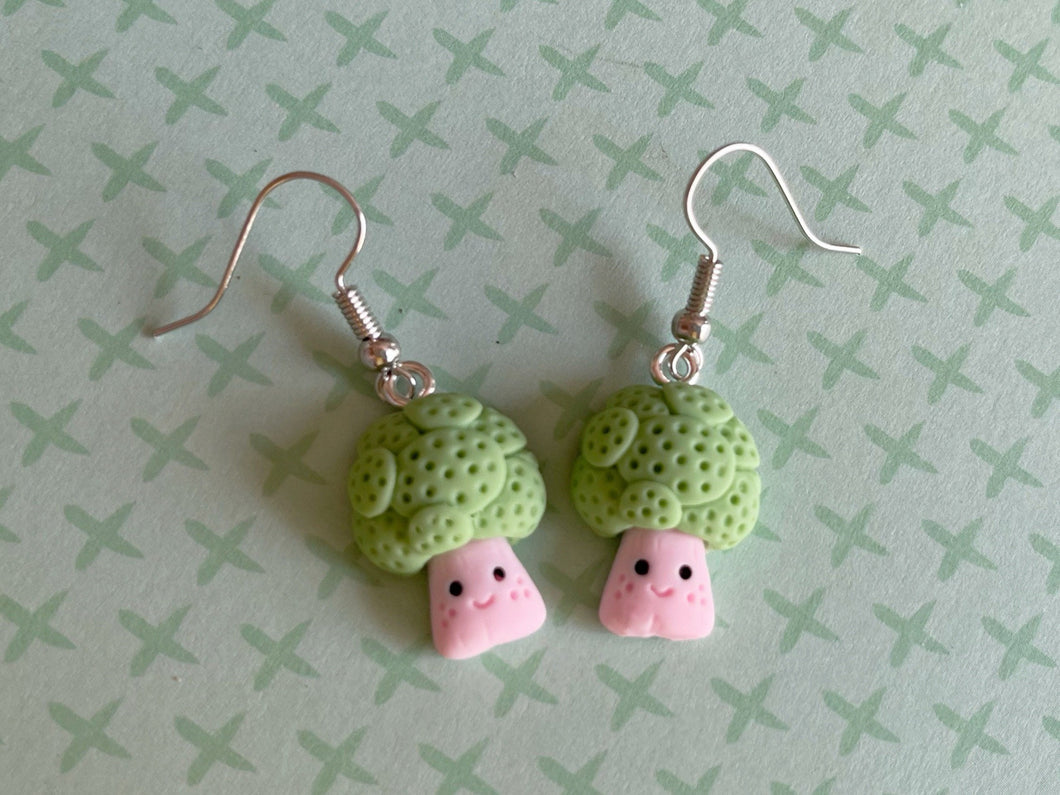 Broccoli Earrings: Vegetable, Healthy Food