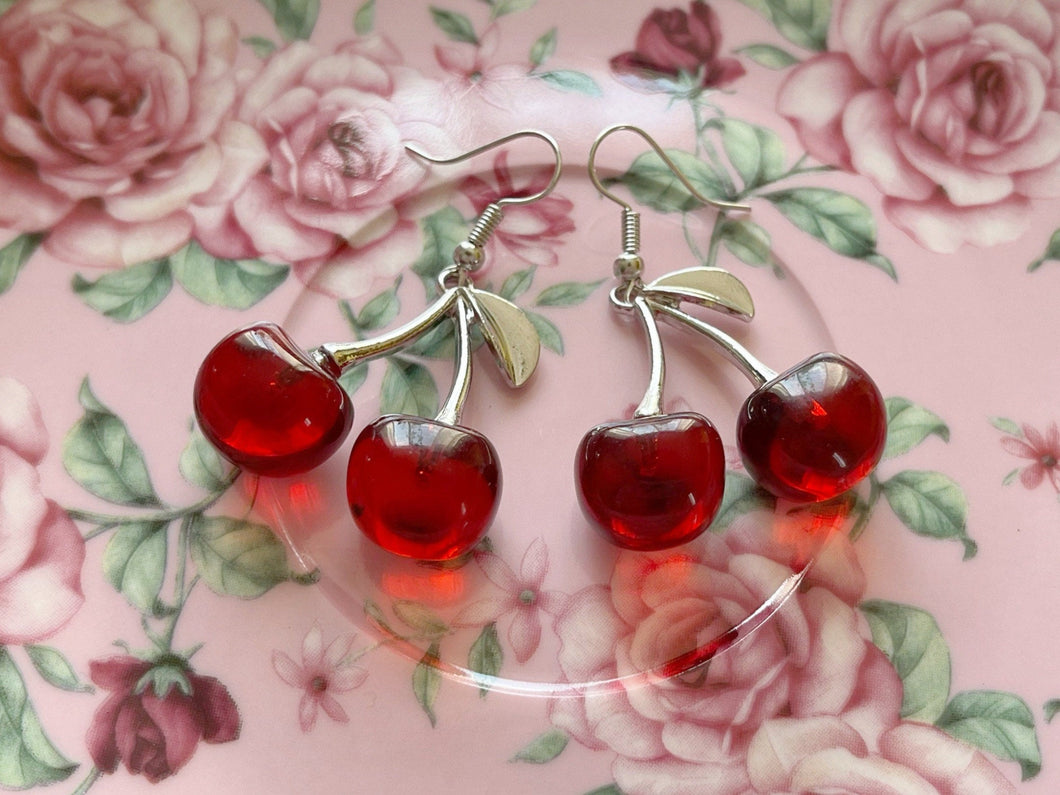 Cherry Earrings: Cherries, Fruit, Summer Vibes
