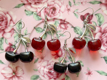 Load image into Gallery viewer, Cherry Earrings: Cherries, Fruit, Summer Vibes