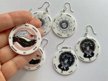 Load image into Gallery viewer, Tarot Inspired Earrings: Game Night, Cards, Play, Fortune Telling, Card Reading