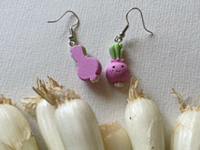 Load image into Gallery viewer, Turnip Earrings: Vegetables, Food, Healthy, Veggies