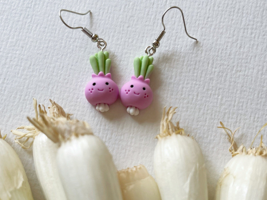 Turnip Earrings: Vegetables, Food, Healthy, Veggies
