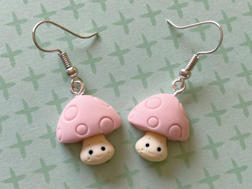 Mushroom Earrings: Mycology, Forest, Foraging, Nature, Plants, Botany