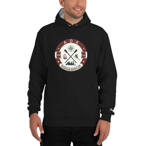 Men's ADK Outdoor Supply Co. Round Logo Champion Hoodie