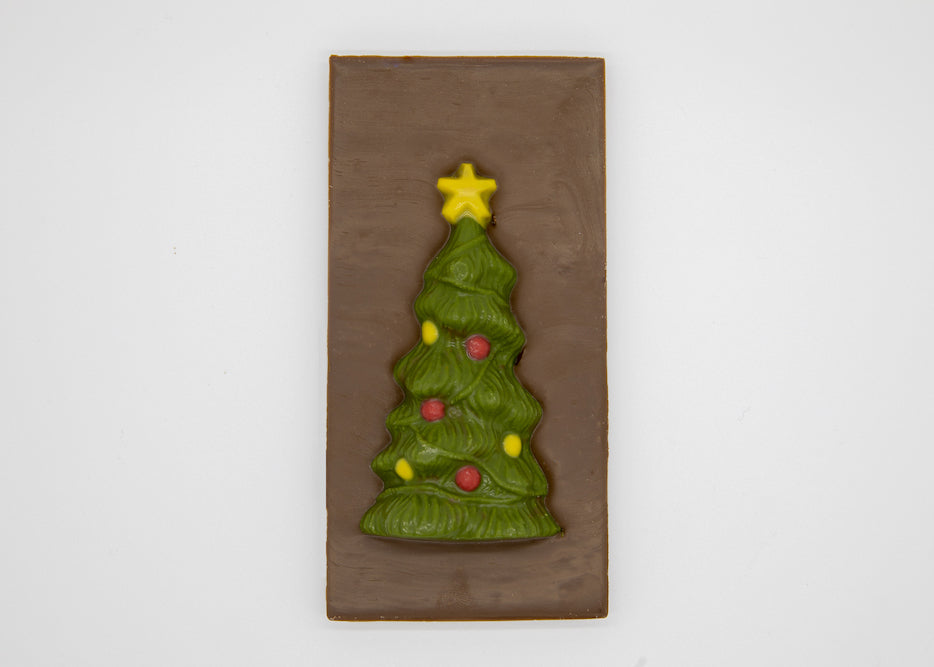 Milk Chocolate Christmas Tree Bar