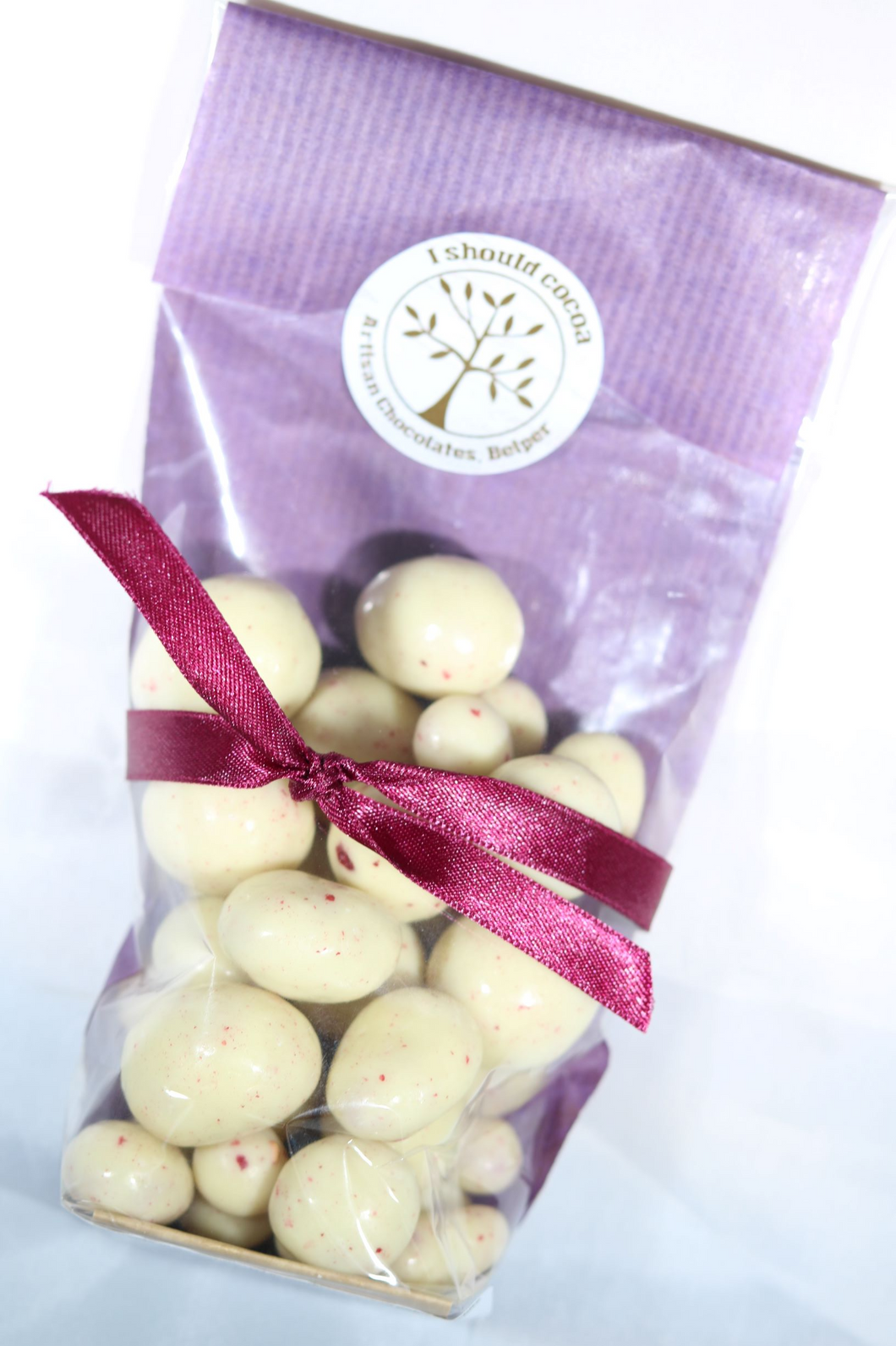 White chocolate covered raspberries