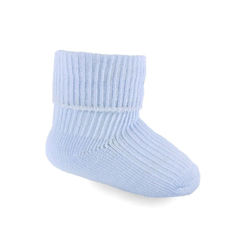 baby boys blue roll top ankle socks