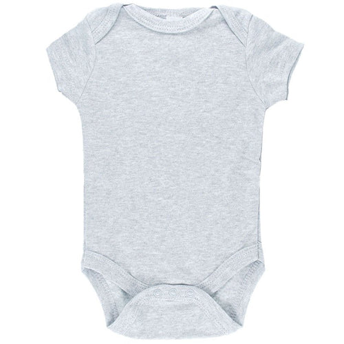 Basic baby boy grey short sleeved bodysuit