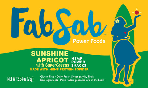 HEMP Power Snacks: Apricot Sunshine with SuperGreens