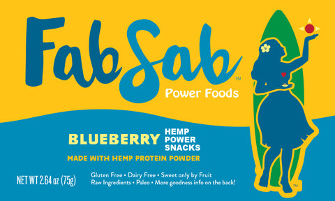 HEMP Power Snacks: Blueberry (with no nuts or coconuts +)