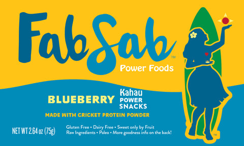 KAHAU Power Snacks: Blueberry (no added nuts or coconut +)