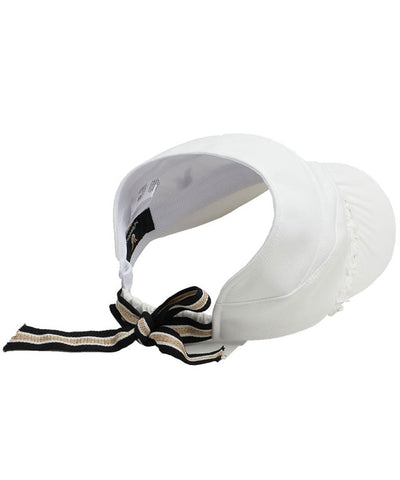 Shirring Half-Cap Ribbon Visor