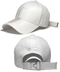 Brushed Banding Ballcap - Vertical (White)