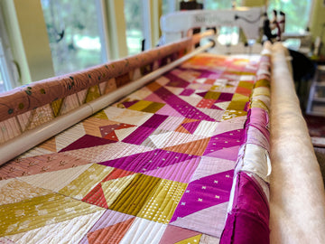 longarm quilter, hire a longarm quilt, tips for prepping your quilt for a longarm quilter, pewter acorn quilts, angela walters quilting