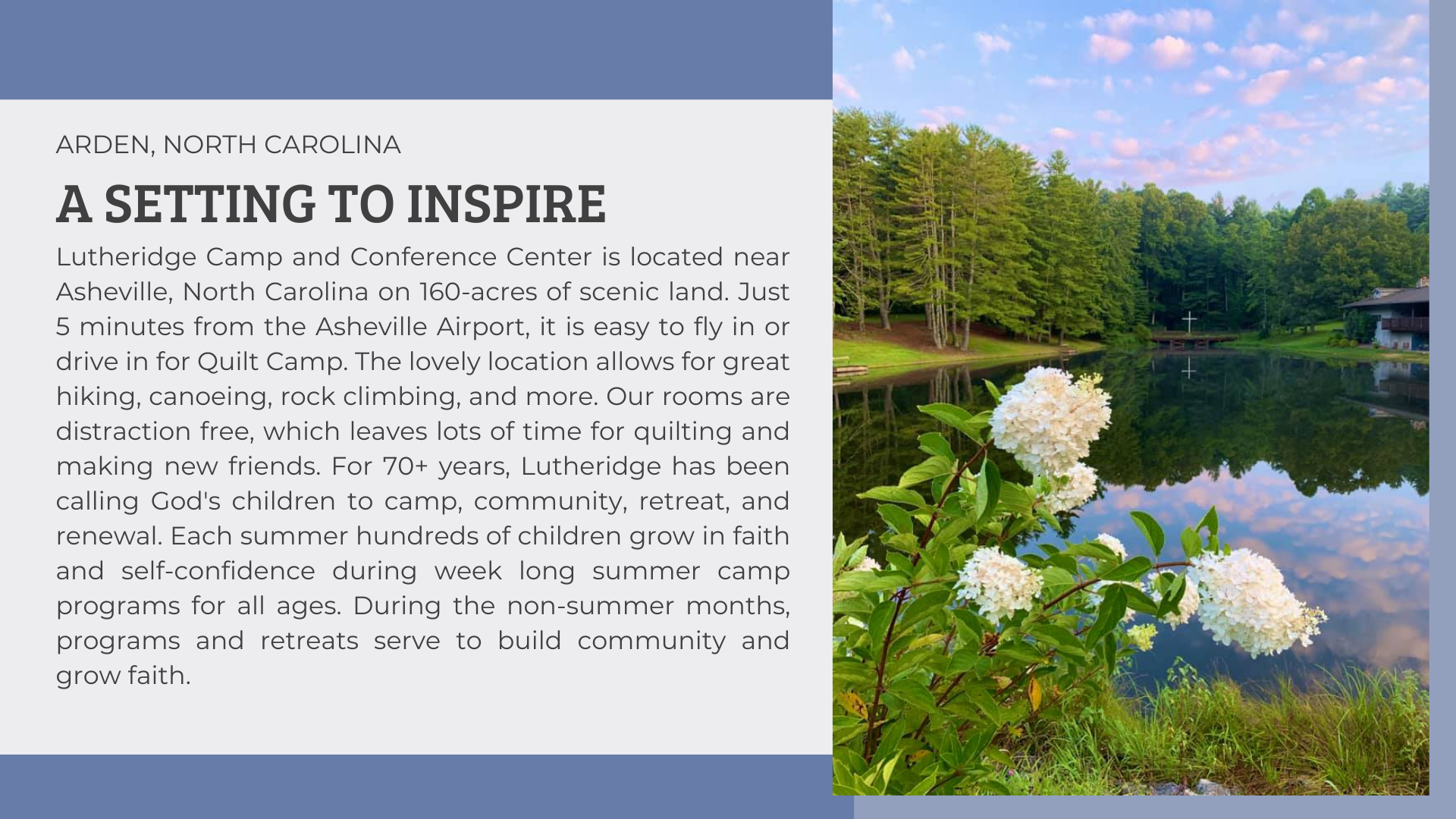 about lutheridge camp in arden, nc, learn more about lutheridge quilt camp