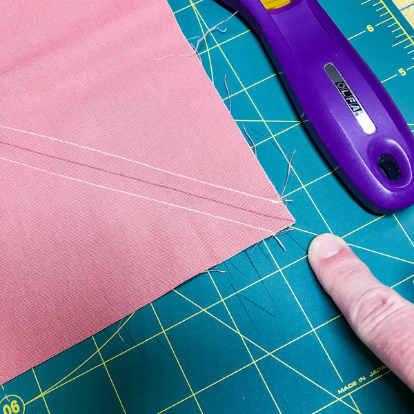 tips for cutting 8 at a time half square triangles