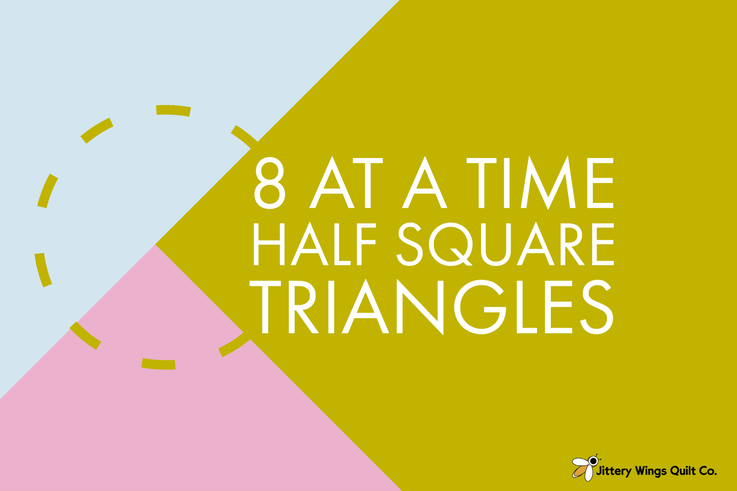 8 at a time half square triangle tutorial from jittery wings quilt co