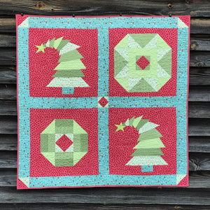 Crooked Christmas Tree Mini Quilt Pattern PDF Download