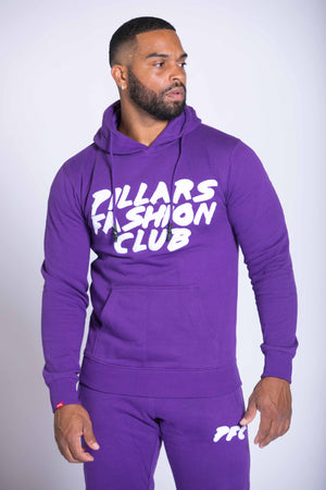 CLUB CHENILLE LOGO HOODIE | PURPLE/WHITE