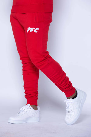 CLUB LOGO CHENILLE PANT | RED/WHITE
