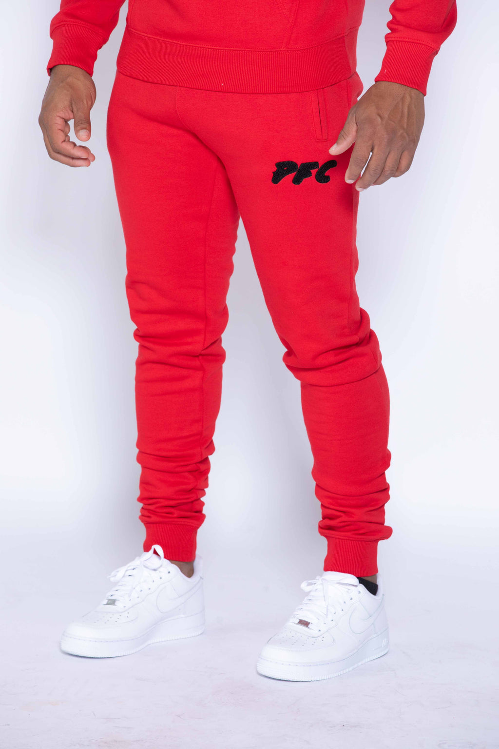 CLUB LOGO CHENILLE PANT | RED/BLACK