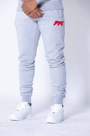 CLUB LOGO CHENILLE PANT | GREY/RED