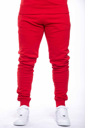 EMBOSSED LOGO PANT | RED