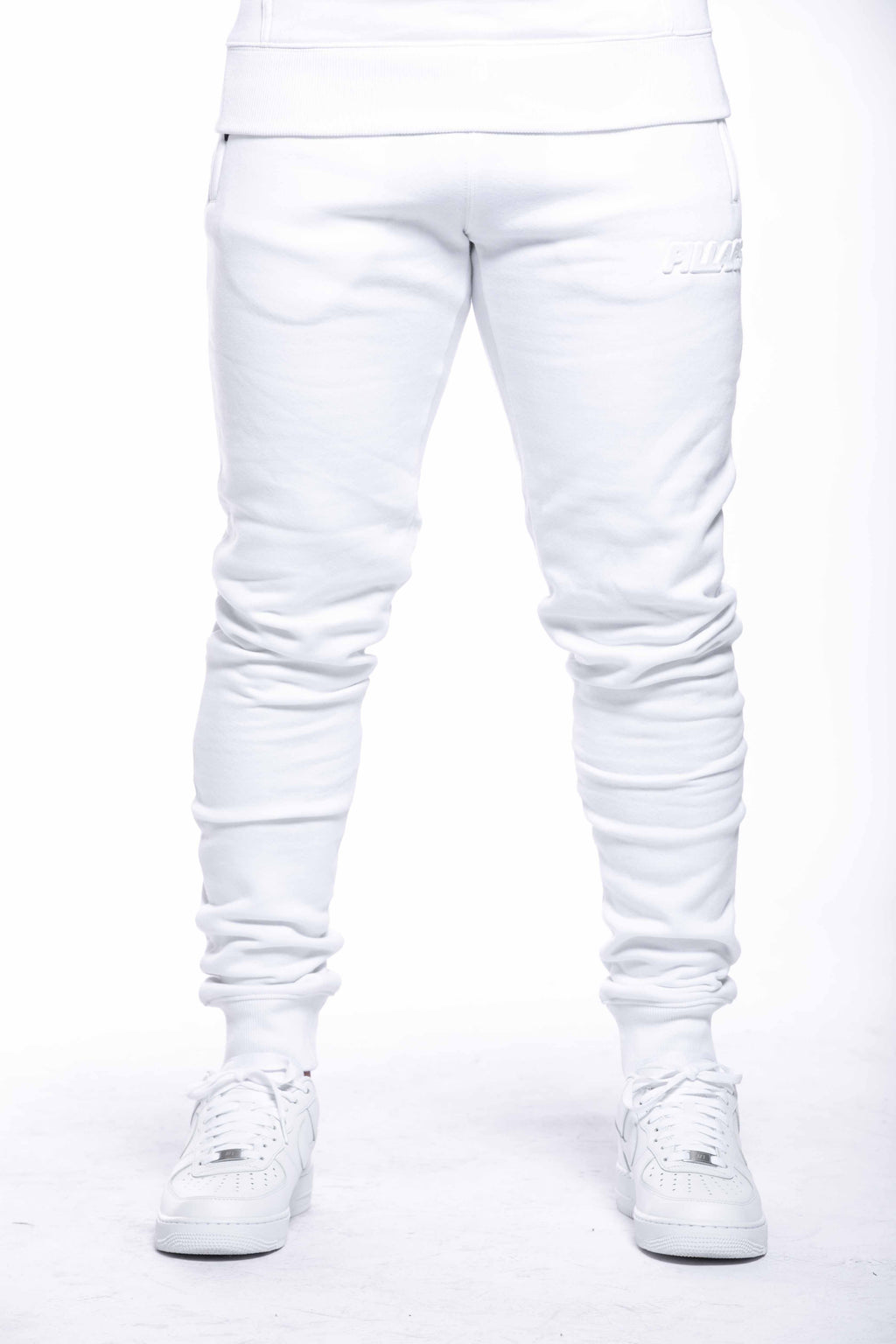 EMBOSSED LOGO PANT | WHITE