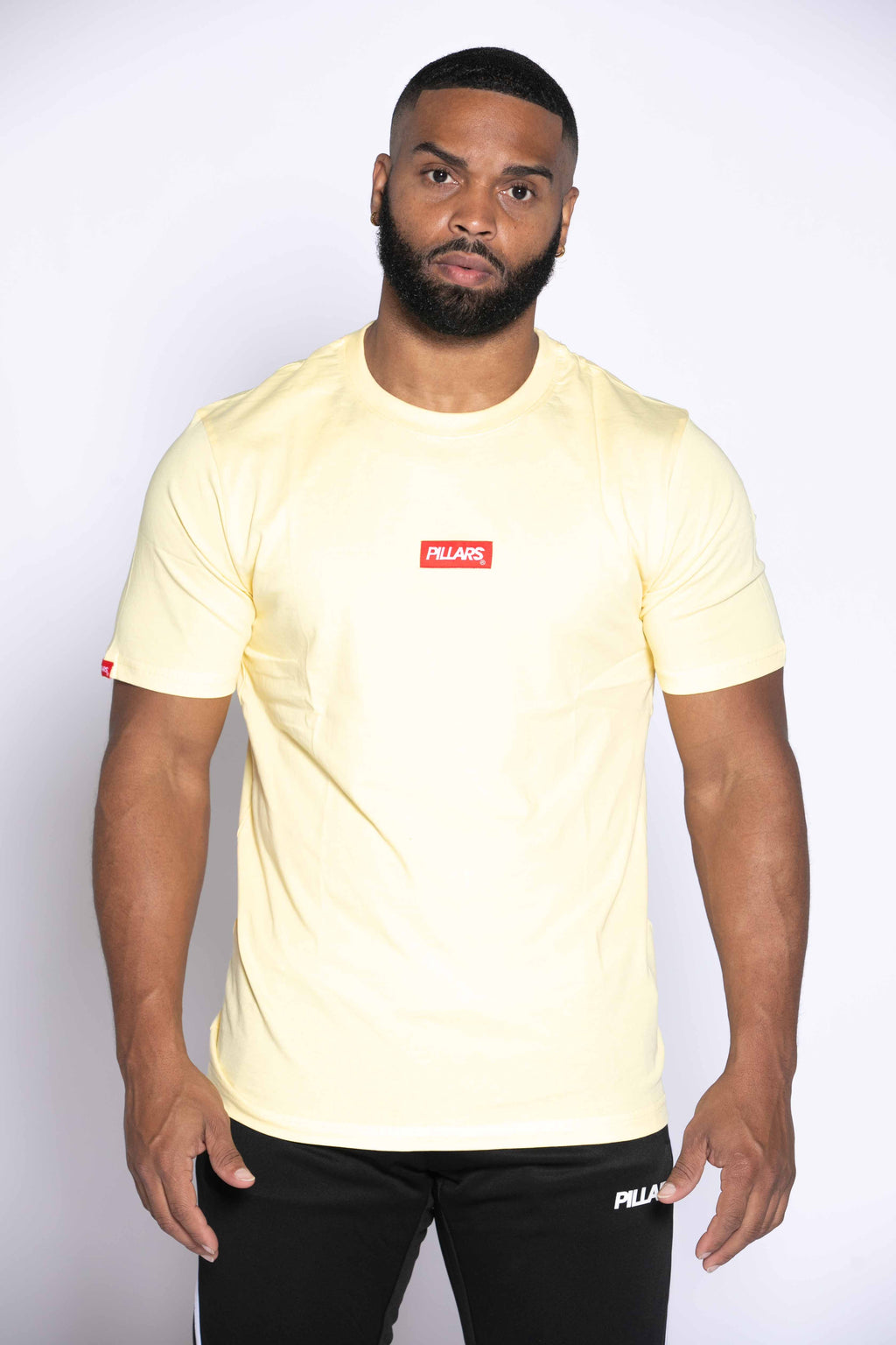 BOX LOGO TAG TEE I YELLOW/RED