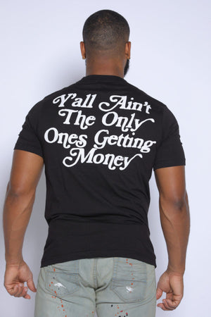 GETTING MONEY PUFF PRINT TEE | BLK\WHT