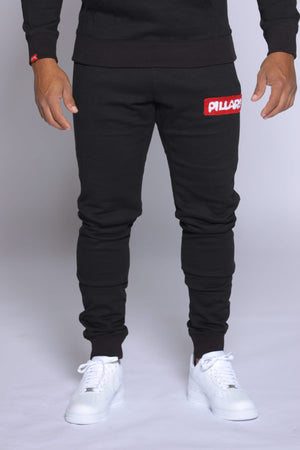 BOX LOGO PANT | BLACK/RED