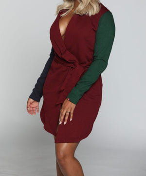 WOMEN'S MULTI COLOR EXTENDED HOOD | BURGUNDY/NAVY/GREEN