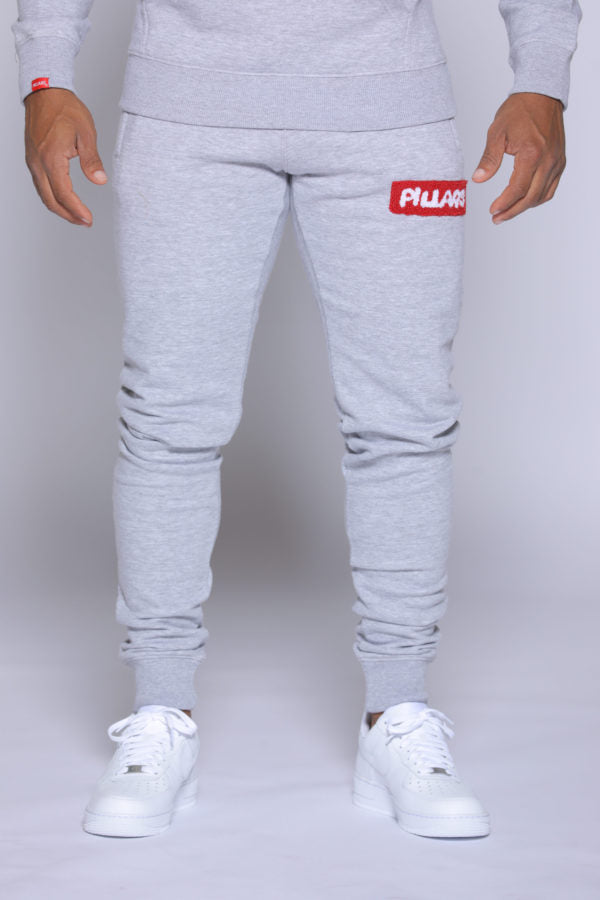 BOX LOGO PANT | GREY/RED