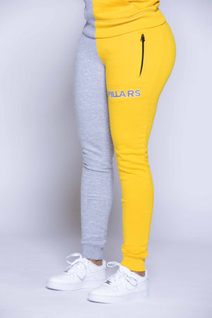 HALF & HALF PANTS | GREY/YELLOW