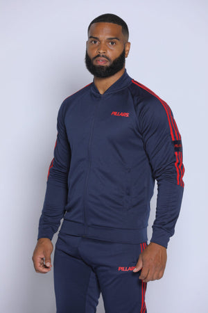 TRACK JACKET | NAVY/RED