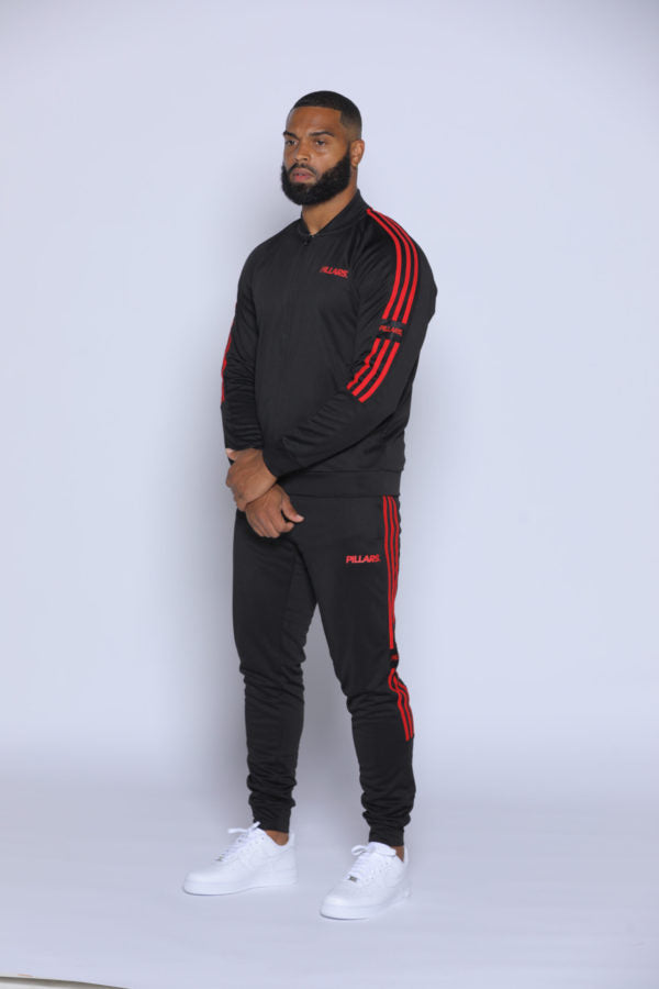 TRACK JACKET | BLACK/RED