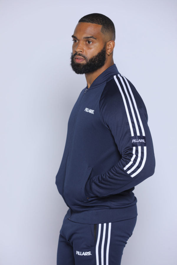 TRACK JACKET | NAVY/WHITE