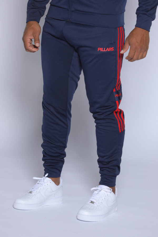 TRACK PANTS | NAVY/RED