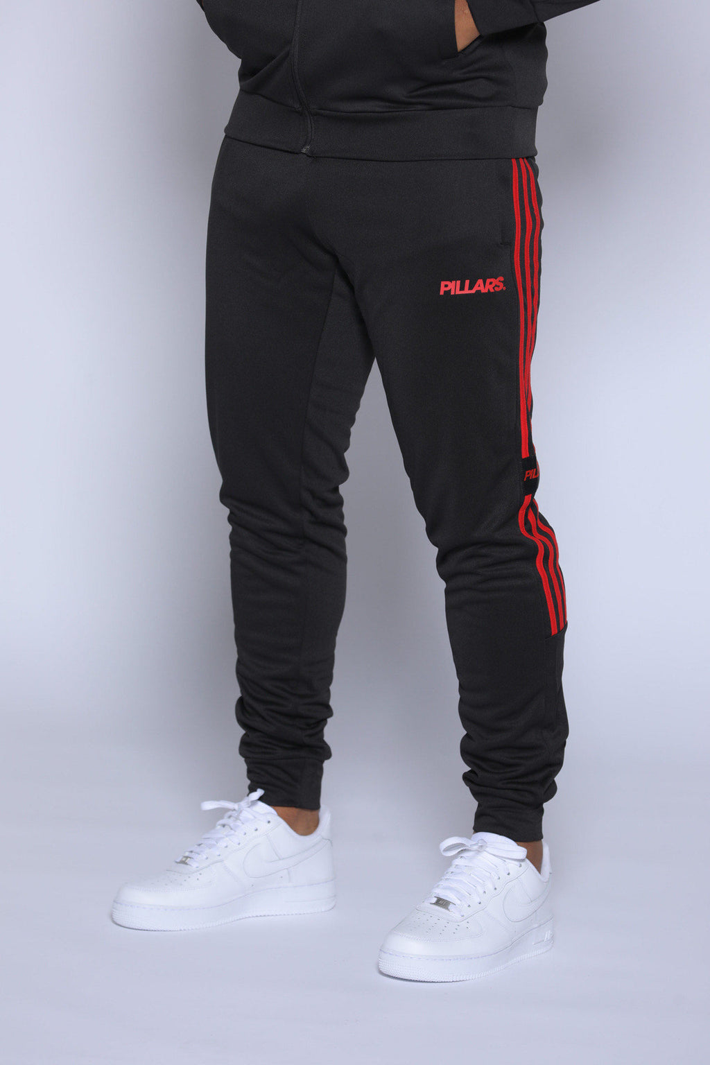 TRACK PANTS | BLACK/RED