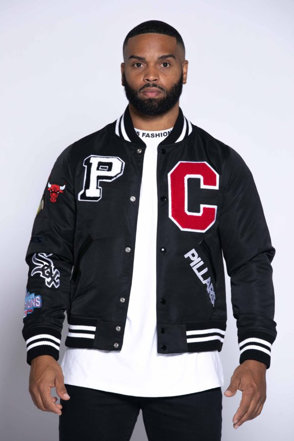 CHICAGO'S VERY OWN VARSITY JACKET | BLACK
