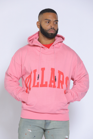 OVERSIZED HOODIE POCKET LOGO (HEAVYWEIGHT) | PINK/RED