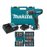 "Makita 12V max CXT® Lithium-Ion Cordless 3/8"" Driver-Drill Kit Set"