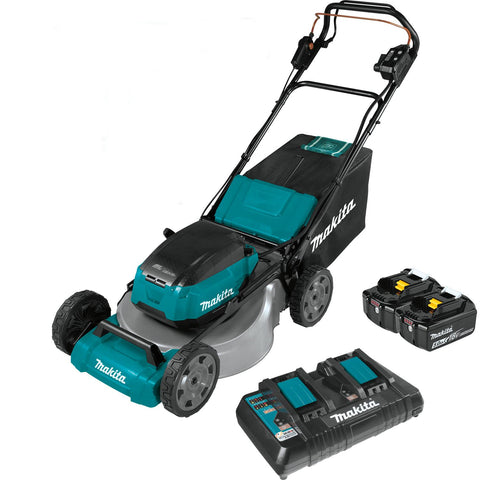 "Makita 21"" Self-Propelled Commercial Lawn Mower Kit with 4 Batteries (5.0Ah)"