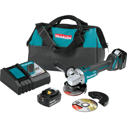 "Makita 18V LXT® Lithium-Ion Brushless Cordless 4-1/2"" / 5"" Cut-Off/Angle Grinder Kit (5.0Ah)"