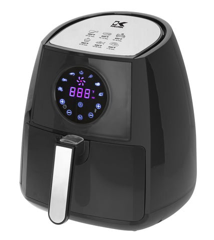 Kalorik Digital Airfryer with Dual Layer Rack - Black