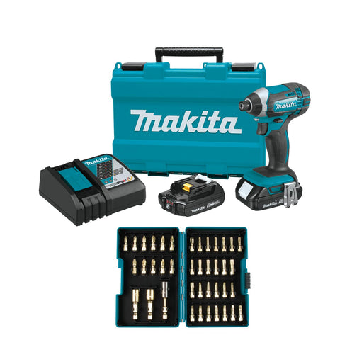 Makita 18V Compact Lithium-Ion Cordless Impact Driver Kit Set