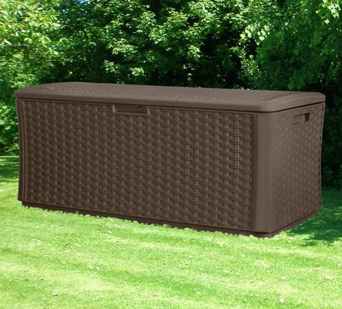 Suncast 134 Gal Deck Box, Wicker