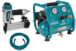 "Makita 2"" 18 ga. Brad Nailer, Compressor & Hose Bundle"