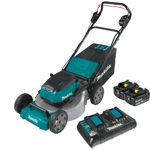 "Makita 21"" Commercial Lawn Mower Kit with 4 Batteries (5.0Ah)"